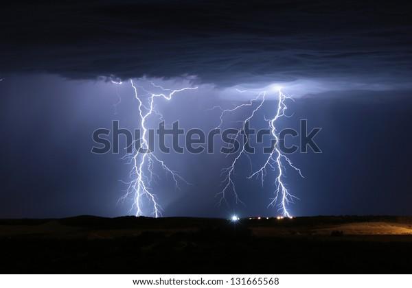 Lightning Storm Yanchep Perth Western Australia