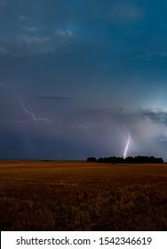 Lightning Strike on the Eastern Plains of Colorado