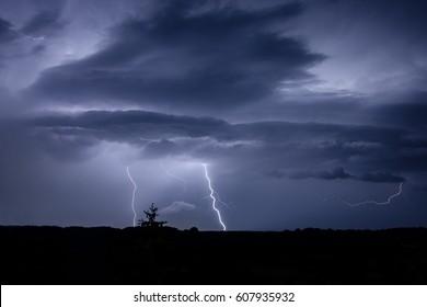 Lightning Strike over Germany
