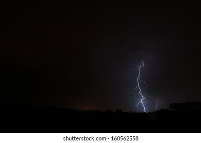 Lightning Strike in thunder storm
