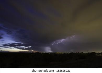Lightning Strike, Western Australia