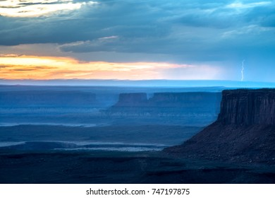Lightning Strikes Canyonlands National Park, Utah