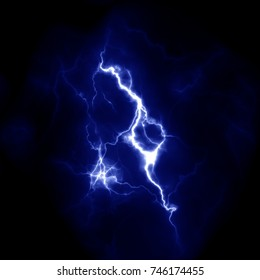 Lightning template for design. Electric discharge in the sky. Thunderbolt nature image