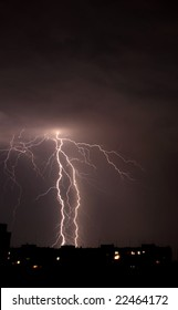 Lightning a thunder-storm
