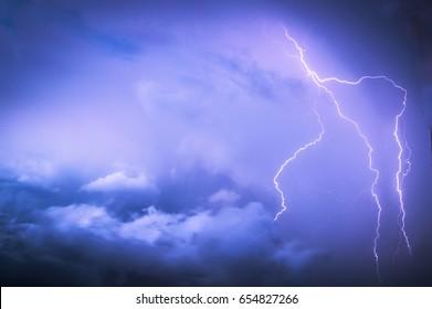Lightning in Thunderstorm
