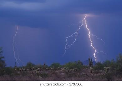 Lightning Thunderstorm in the high desert