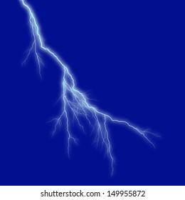 lightning turquoise background dark blue sky at night