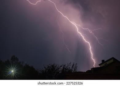 lightning under the city
