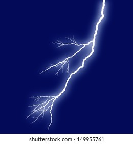 lightning white background dark blue sky