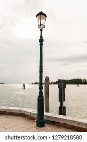 Lightpost in Venice Italy