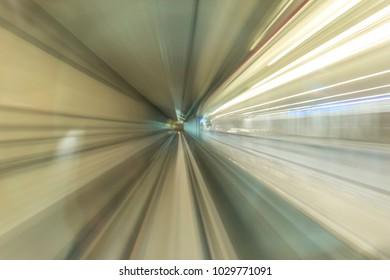 Lightrail with blur view.