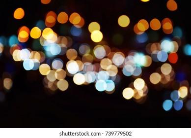 Lights blur bokeh background