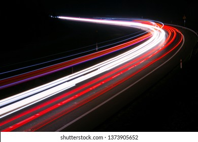 lights of cars with night