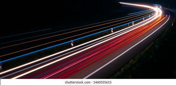 lights of cars with night.