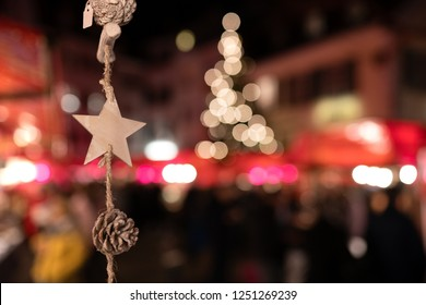 Lights of the Christmas market in Solothurn