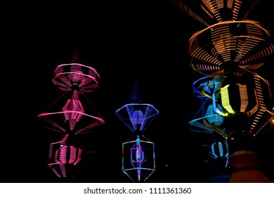 lights color night pink red green blue statue illumination pretty smoke fireworks display painted