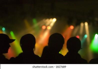 Lights at a concert