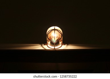 Lights in a darkroom