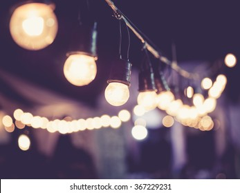 Lights decoration Event Festival outdoor Vintage tone