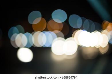 lights defocused bokeh sofe color