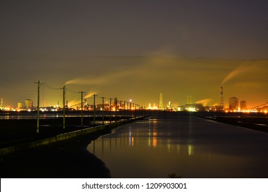 The lights of factory