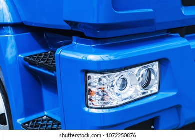 lights and hood of the truck. automotive and construction machinery parts