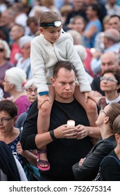 Lights for judiciary - protest against violation the constitutional law in Poland, by the conservative party and government. Defending the division of powers.  18th of July, 2017, Poznan, Poland.