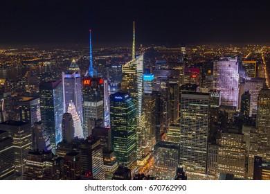 Lights of NYC/New York City, NY, USA/Dec 26th, 2014, Holidays Celebration