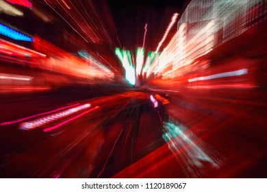 Lights on city streets by night,abstract light speed trace,abstract speed background