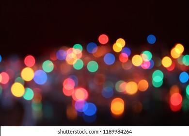 Lights on dark background