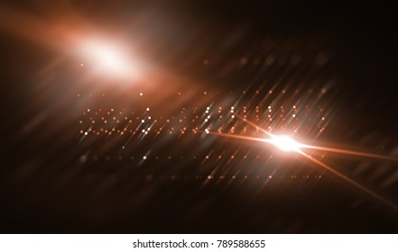 Lights Red Abstract Background With Rays. Illustration Beautiful.