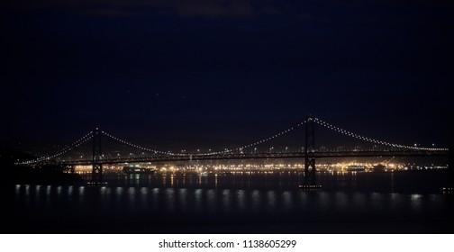 Lights of San Francisco Bay Bridge
