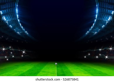 lights in soccer stadium at night match