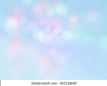 lights soft colors. blue sky background.