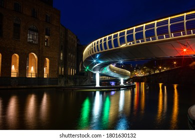 Lights under the bridge, Bristol UK