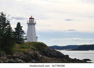 The lightstation, which is now a museum, at Greens Point, is an octagonalwooden tower established in 1879 and altered in 1903 to direct boats andships traffic trough Letete Passage Bay of Fundy