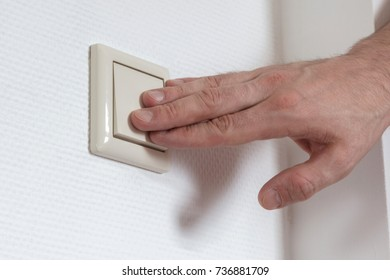 Lightswitch in a common house in the Netherlands