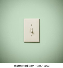 Lightswitch on Blue Green Aqua Teal  Wall Off