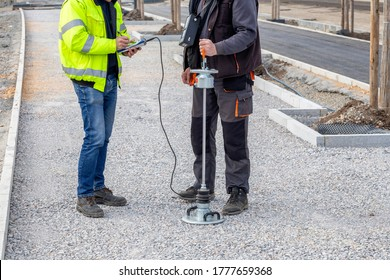 Lightweight deflectometer used in earthwork testing to provide rapid determination of elastic modulus, which is an essential input for mechanistic pavement design.