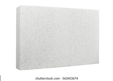 Lightweight foamed gypsum block isolated on white