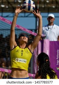 Lignano Sabbiadoro, Italy, July 20 2019 Ulrike Bridi (Agricola Zambelli Millennium Brescia) during the Beach Volley Summer Tour - Lignano Sabbiadoro - Fase a gironi e incroci VOLLEY BEACH VOLLEY LPS/E