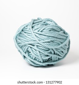 Ligth blue cord ball for knitting