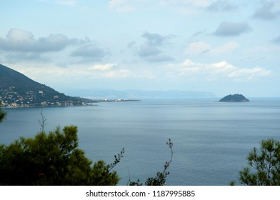 Ligurian Riviera panoramic view
