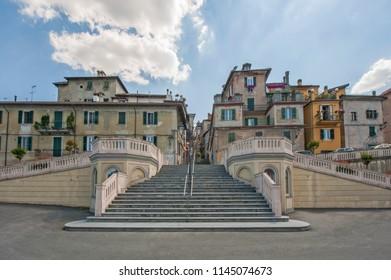 Ligurian town staircase