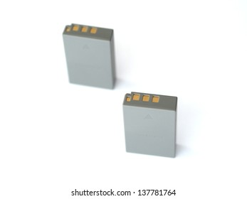 Li-ion battery isolated on white background
