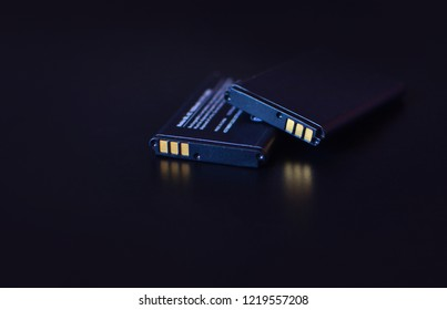 Li-ion. Lithium battery background.