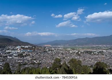 Lijiang City, Yunnan Province urban architectural landscape