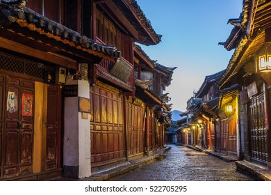 LIJIANG - OCT 25: Street view on October 25, 2012 in Lijiang, China. Lijiang old town is a UNESCO Heritage Site with 800 years history and confluence for trade along the old tea horse road.