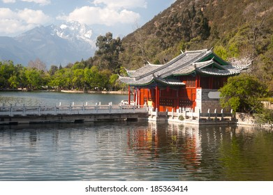 LIJIANG,CHINA-MARCH 17 : Black Dragon pool ancient old town in China on March 17,2014.It was enlisted as a UNESCO World Heritage and it a main tourist site in Lijiang,Yunnan in Southwestern of China.