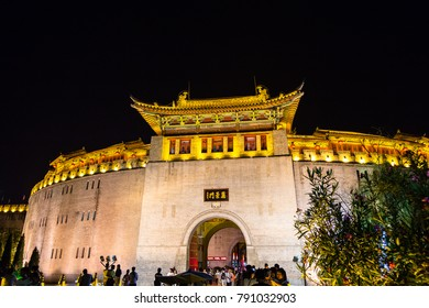 Lijing gate is the fortified entrance to the old city of Luoyang, henan, China